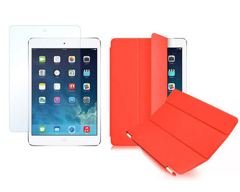 Etui Smart Cover do iPad Mini 4 Czerwone + SZKŁO
