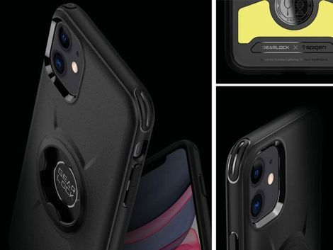 Etui Spigen Gearlock GCF112 bike mount do Apple iPhone 11 Black