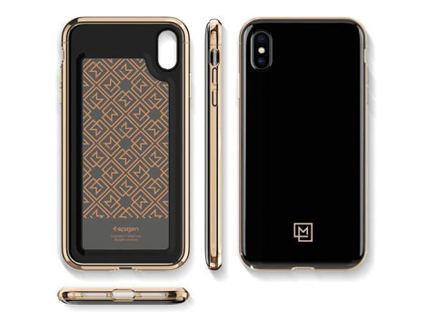 Etui Spigen LA Manon Apple iPhone Xs Max Gold Black