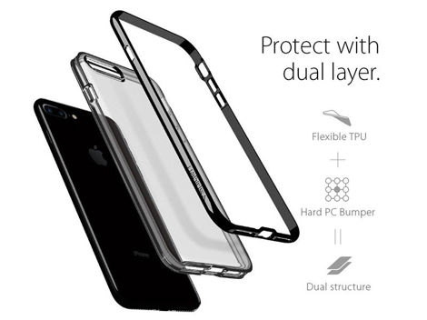 Etui Spigen Neo Hybrid Crystal iPhone 7 Plus Jet Black