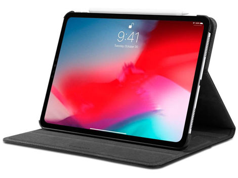 Etui Spigen Stand Folio do Apple iPad Pro 11 2018 Black + Szkło