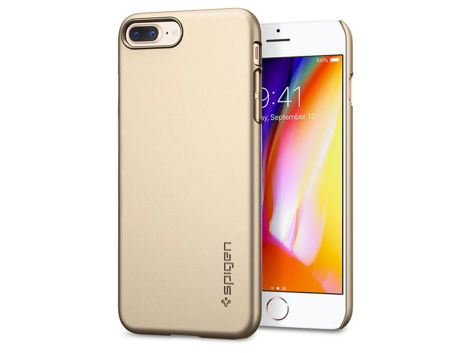 Etui Spigen Thin Fit iPhone 7 Plus Champagne Gold