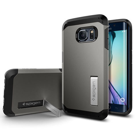 Etui Spigen Tough Armor Samsung Galaxy S6 Edge Gunmetal