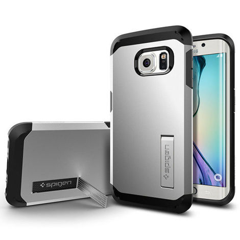 Etui Spigen Tough Armor Samsung Galaxy S6 Edge Satin Silver