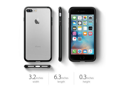 Etui Spigen Ultra Hybrid iPhone 7 Plus Black + Szkło