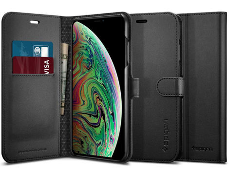 Etui Spigen Wallet S Portfel Apple iPhone Xs Max Black