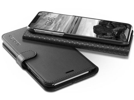 Etui Spigen Wallet S Portfel Apple iPhone Xs Max +Szkło Alogy