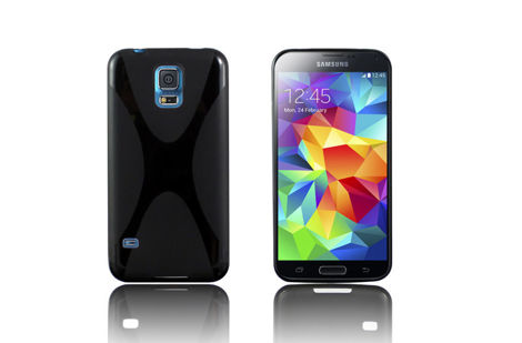 Etui X-SHAPE do SAMSUNG Galaxy S5 CZARNE