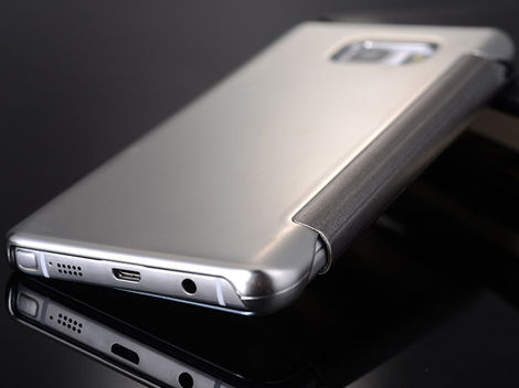 Etui clear view cover samsung galaxy s7 złote