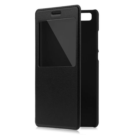 Etui flip cover S-View czarny do Huawei P8 LITE