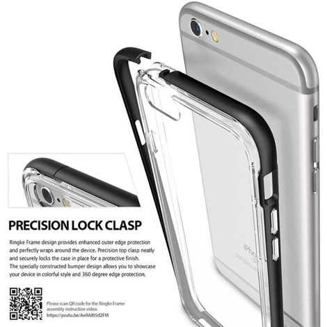 Etui ringke fusion frame iphone 5 / 5s / se frost gray + szkło