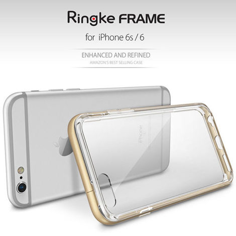 Etui ringke fusion frame iphone 6 / 6s frost rose + szkło