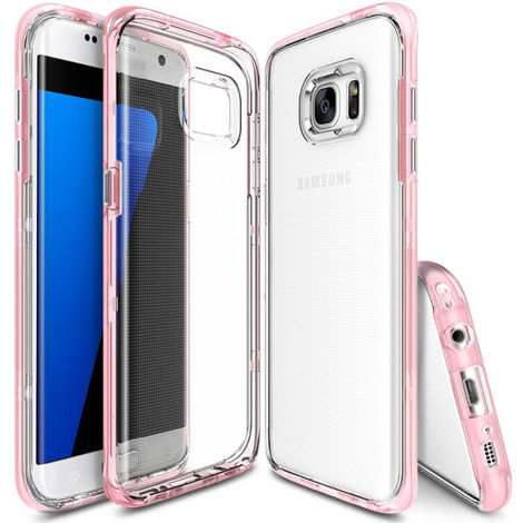 Etui ringke fusion frame samsung galaxy s7 edge frost pink