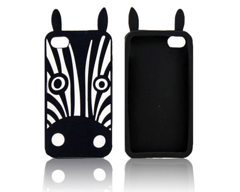 Etui silikonowe 3D Zebra Marvin iPhone 5 / 5s