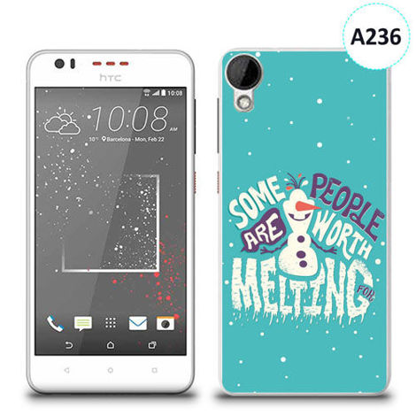 Etui silikonowe z nadrukiem HTC DESIRE 825 - olaf some people are worth melting