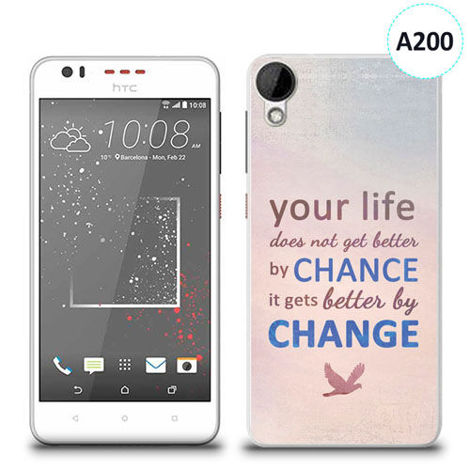 Etui silikonowe z nadrukiem HTC DESIRE 825 - your life doesn't get better by chance