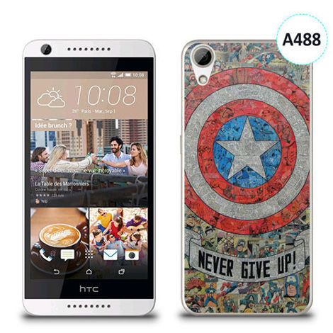 Etui silikonowe z nadrukiem HTC Desire 626 - avengers never give up