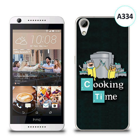Etui silikonowe z nadrukiem HTC Desire 626 - breaking bad cooking time