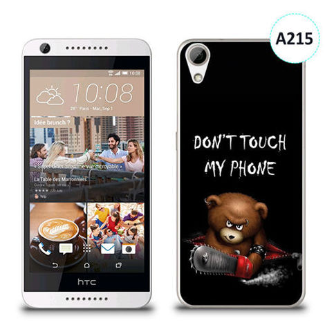 Etui silikonowe z nadrukiem HTC Desire 626 -  don't touch my phone bear