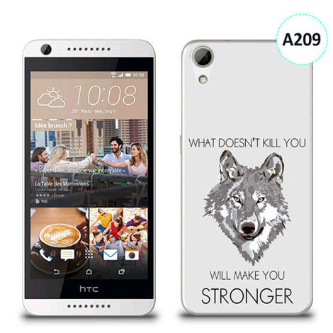 Etui silikonowe z nadrukiem HTC Desire 626 -  will make you stronger