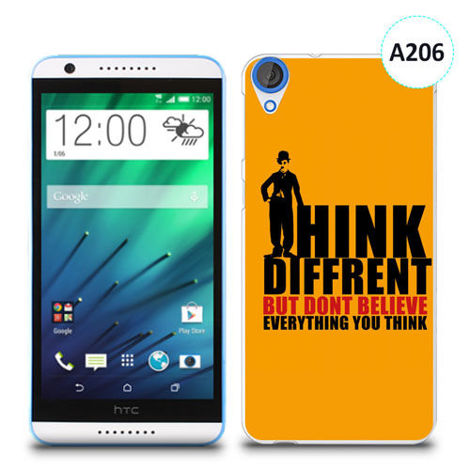 Etui silikonowe z nadrukiem HTC Desire 820 - don't believe everything you think