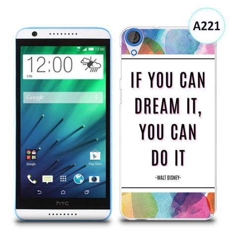 Etui silikonowe z nadrukiem HTC Desire 820 - if you can dream it you can do it