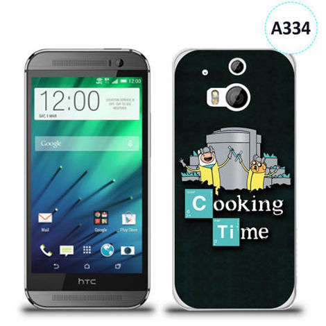 Etui silikonowe z nadrukiem HTC Desire M8 - breaking bad cooking time