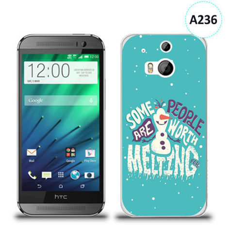Etui silikonowe z nadrukiem HTC Desire M8 - olaf some people are worth melting