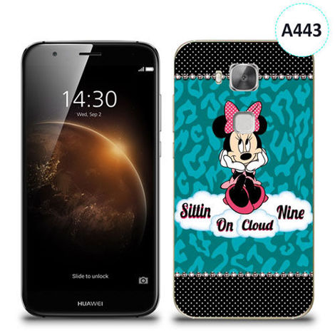 Etui silikonowe z nadrukiem Huawei GX8 - minnie sittin on cloud