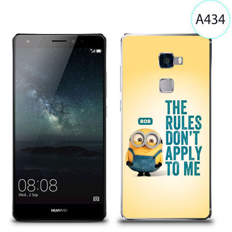 Etui silikonowe z nadrukiem Huawei Mate S - minion the rules don't apply to me