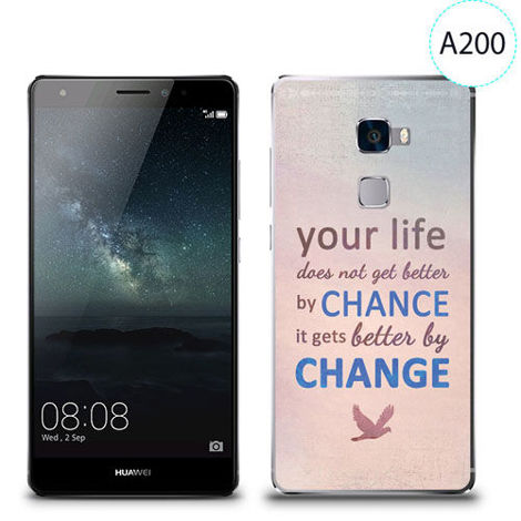 Etui silikonowe z nadrukiem Huawei Mate S - your life doesn't get better by chance