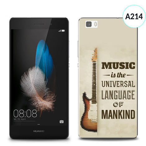 Etui silikonowe z nadrukiem Huawei P8 Lite - music is the universal language of mankind