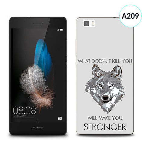 Etui silikonowe z nadrukiem Huawei P8 Lite - will make you stronger