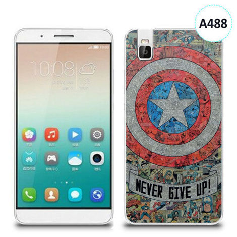 Etui silikonowe z nadrukiem Huawei Shotx 7i - avengers never give up