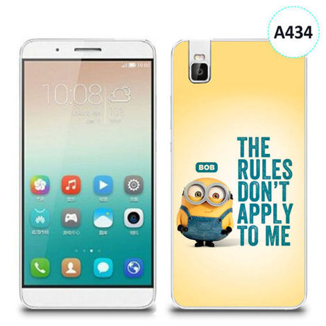 Etui silikonowe z nadrukiem Huawei Shotx 7i -  minion the rules don't apply to me