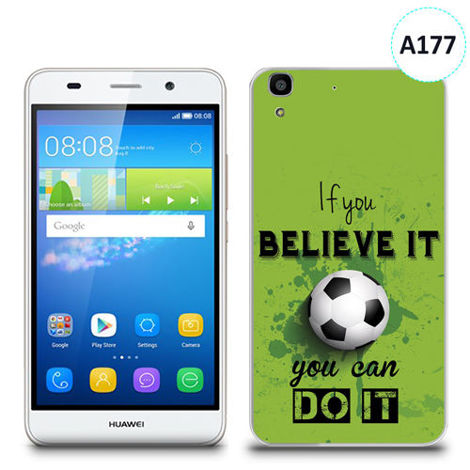 Etui silikonowe z nadrukiem Huawei Y6 - if you believe it you can do it