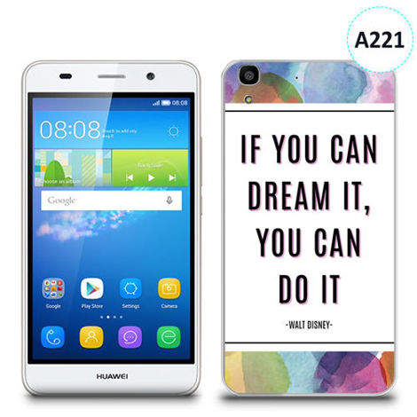 Etui silikonowe z nadrukiem Huawei Y6 - if you can dream it you can do it