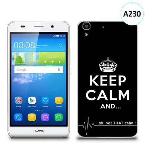 Etui silikonowe z nadrukiem Huawei Y6 -  keep calm and...