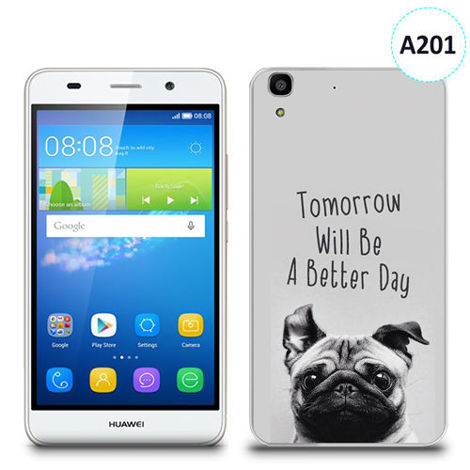 Etui silikonowe z nadrukiem Huawei Y6 - tomorrow will be a better day