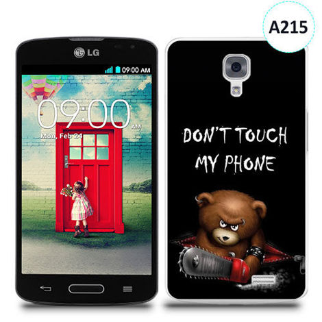 Etui silikonowe z nadrukiem LG F70 - don't touch my phone bear