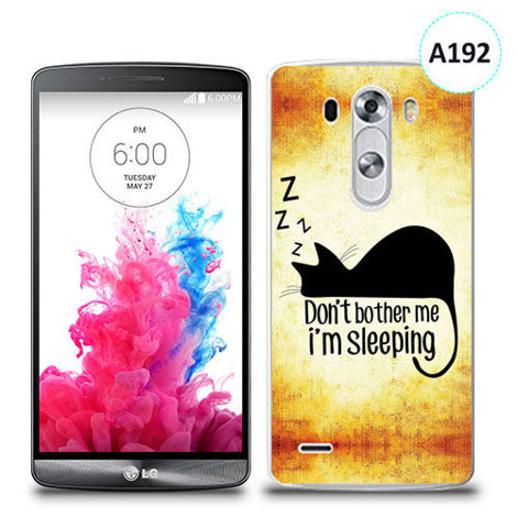 Etui silikonowe z nadrukiem LG G3 - don't bother me i'm sleeping