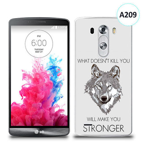 Etui silikonowe z nadrukiem LG G3 - will make you stronger