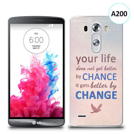 Etui silikonowe z nadrukiem LG G3 - your life doesn't get better by chance