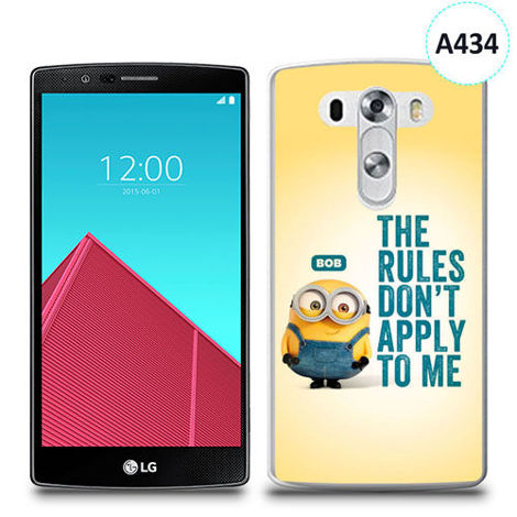 Etui silikonowe z nadrukiem LG G4 - minion the rules don't apply to me