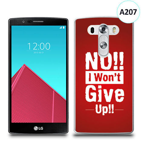 Etui silikonowe z nadrukiem LG G4 - no i won't give up !