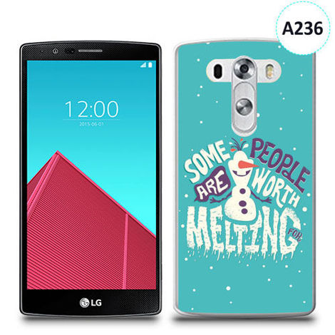 Etui silikonowe z nadrukiem LG G4 - olaf some people are worth melting