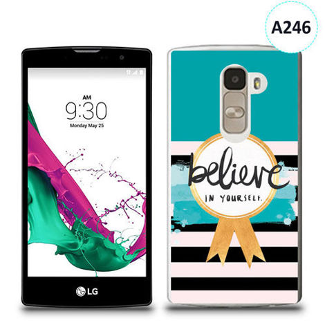 Etui silikonowe z nadrukiem LG G4c - believe in yourself