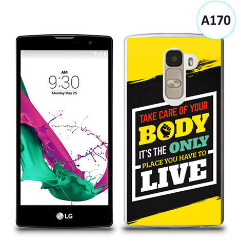 Etui silikonowe z nadrukiem LG G4c - take care of your body