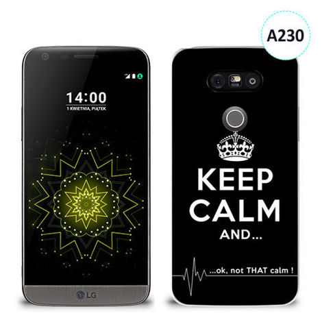 Etui silikonowe z nadrukiem LG G5 - keep calm and...