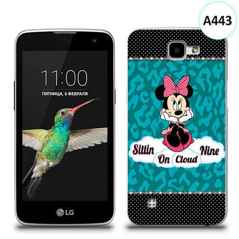 Etui silikonowe z nadrukiem LG K4 - minnie sittin on cloud
